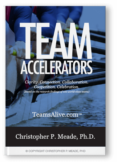 Team Accelerators: Clarity. Connection. Collaboration. Coopetition. Celebration.